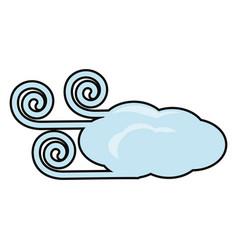 Windy weather vector