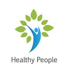 healthy people logo vector image