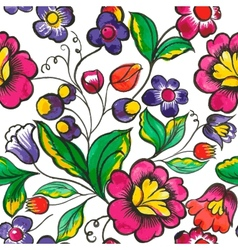floral watercolor texture pattern Watercolor vector image vector image