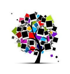 memories tree vector image vector image