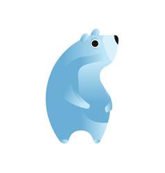 polar bear stylized geometric animal low poly vector image