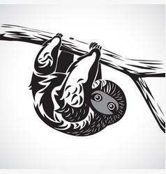 sloth graphic art vector image