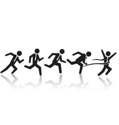 businessman running race vector image