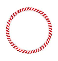 Candy Cane Circle vector image