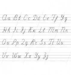 copybook alphabet vector image vector image