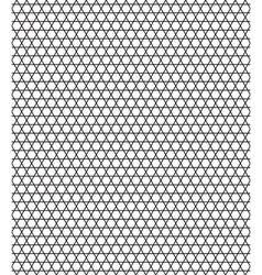 Sexangular stars pattern vector image vector image