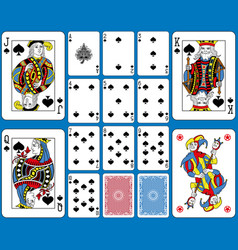 spades suite playing cards french style vector image vector image