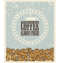 fresh coffee vector image vector image