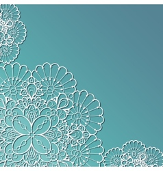Lace background vector image vector image