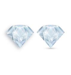 a realistic diamond no gradient mesh vector image