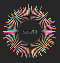 abstract colorful rays background with place vector image