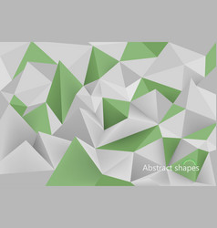 Abstract green shapes scene vector