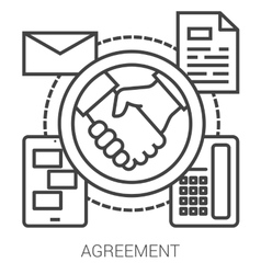 Agreement line infographic vector image