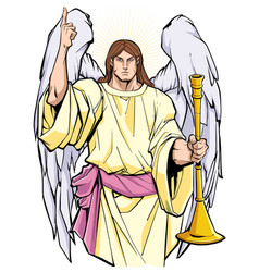 Archangel gabriel portrait vector