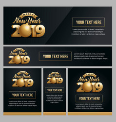 Banner poster and template new year 2019 vector