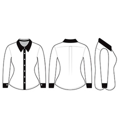 Blank shirt with long sleeves template vector image