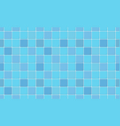 blue color ceramic tile wall vector image