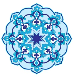 blue oriental ottoman design thirty two vector image