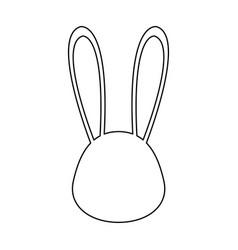 bunny face icon vector image