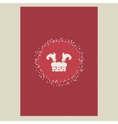 Christmas and New Year postcard template with vector