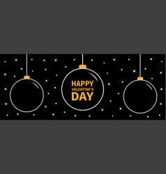 christmas ball icon set doodle white line vector image