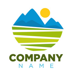 Company logotype with place for name and colorful vector