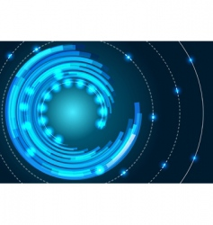 Concentric abstract background vector