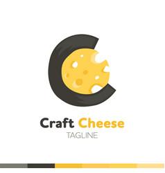Craft cheese logo restaurant logo food and vector
