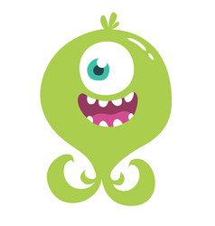 cute cartoon monster alien or octopus vector image