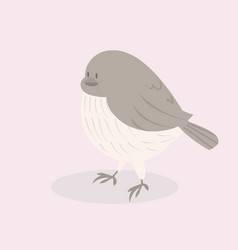 cute gray bird on a background vector image