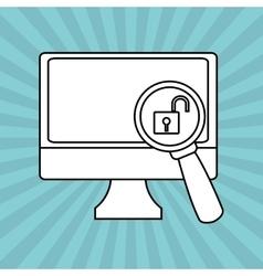 Cyber Security antivirus design vector image
