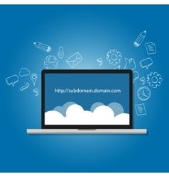 Domain subdomain name com internet vector