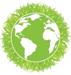 Ecology concept of green planet vector image vector image
