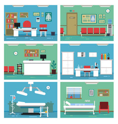 Empty medical offices different vector