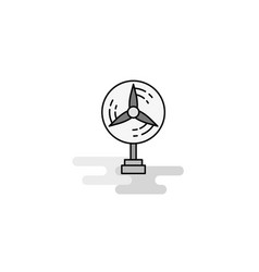 fan web icon flat line filled gray icon vector image