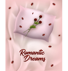 Fashion advertising poster written romantic dreams vector
