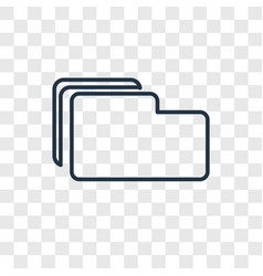 fillet concept linear icon isolated on vector image