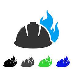 Fire helmet flat icon vector