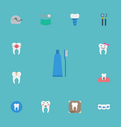Flat icons halitosis stomatology decay and other vector