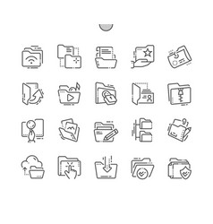 Folders well-crafted pixel perfect thin vector