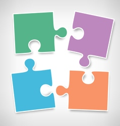 Four Puzzle Jigsaw Infographic Elements on vector