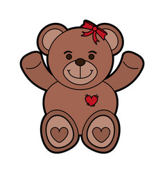 girly teddy bear baby or shower related icon imag vector image