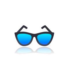glasses on white vector image
