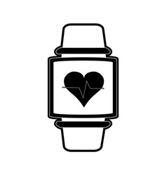 heart rate wrist monitor fitness band icon image vector image