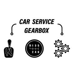 Infographics car repair service car gearbox vector