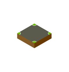 isolated intersection isometric crossroad vector image