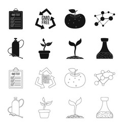 Isolated object of and icon collection of vector