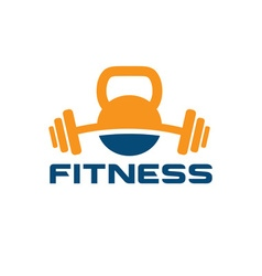 kettlebell and barbell design template vector image