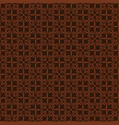 Korean traditional brown plant pattern background vector