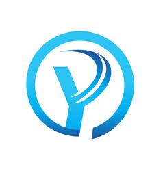 letter y icon vector image
